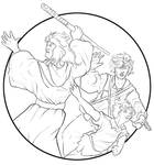 Thieve's Guild Trio by bonbon3272