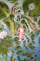 Koi Watercolor by bonbon3272