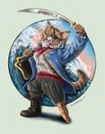 Captain Stumpy the Pirate Cat by bonbon3272