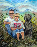 Portrait Commission in Watercolors by bonbon3272