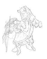 VexAhlia and Trinket LineART by bonbon3272