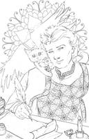 Character Coloring Page by bonbon3272