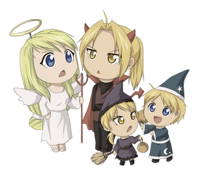 Elric Family Halloween by kasuria