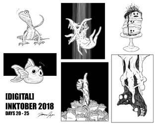 Inktober 2018 Collection: Days 20-25 by Netaro