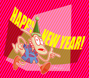 Rocko's New Year 2019 by Netaro