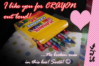 V-Day Card 2019: Crayon by Netaro