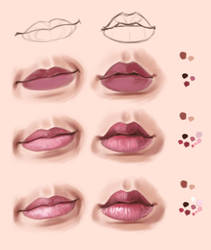 Lips practice in krita and steps by Thubakabra