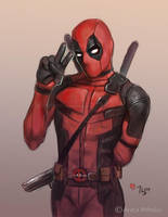 Peace, Deadpool - Daily Sketch by Thubakabra