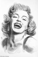 Marilyn Watercolor by Thubakabra