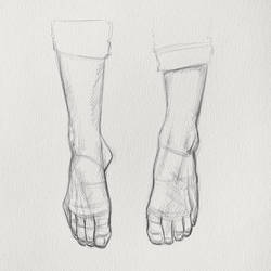 Sketching Feet 1 by Thubakabra