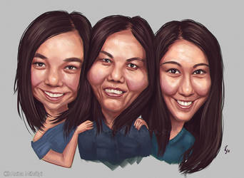 Family Caricature by Thubakabra