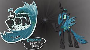 Wallpaper Chrysalis is best pony by Barrfind