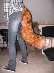 Finished fox tail by TwirlyFoxy