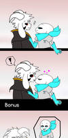 sans x asriel - the kiss by InsanityPants