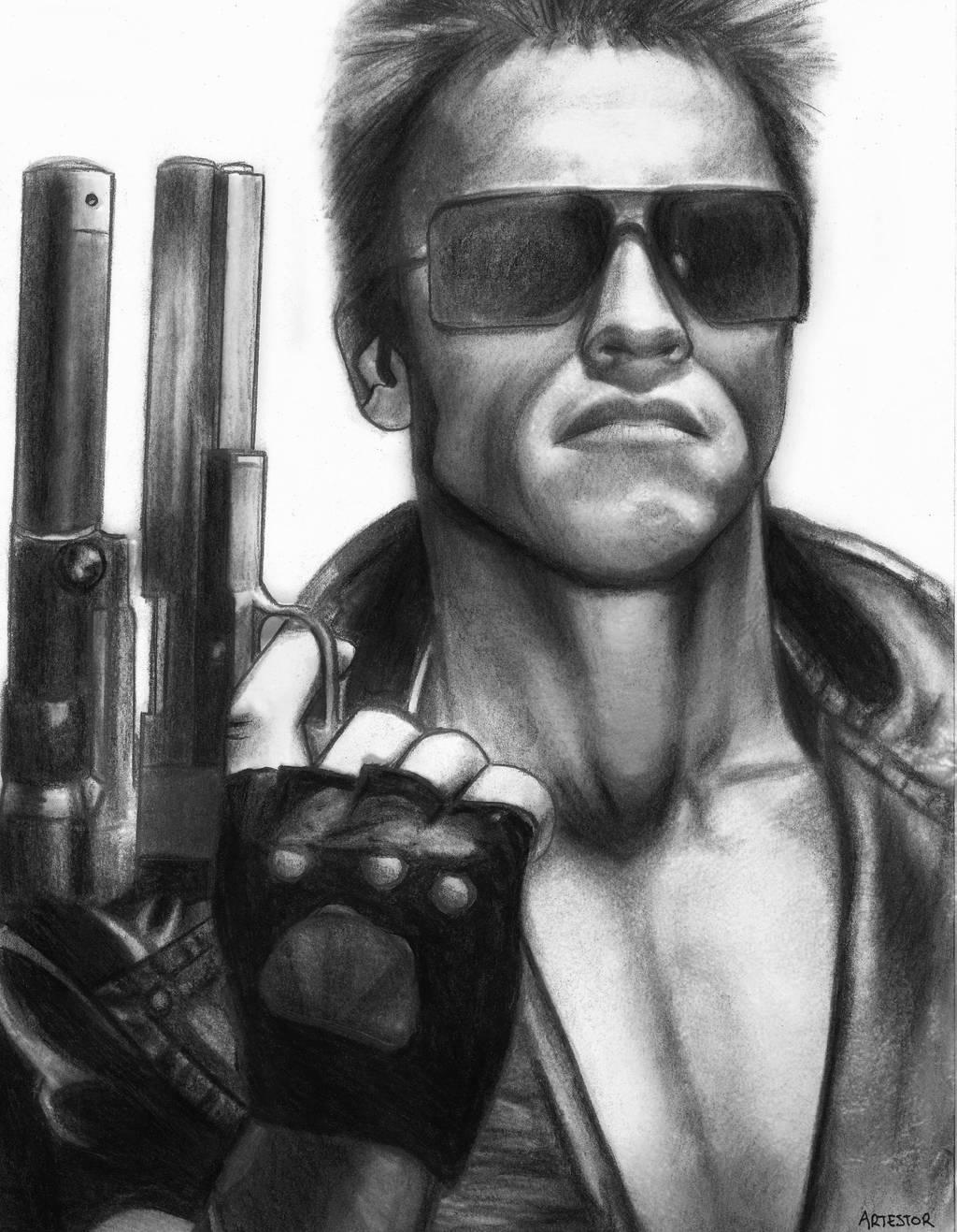 Terminator   Arnold Schwarzenegger by ArTestor