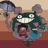 Garbage Totoro by Izaart