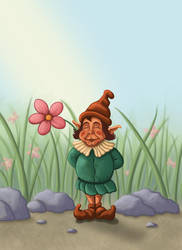 flower gnome by hillfreak