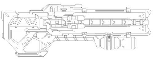 OverWatch Soldier 76's Gun Blueprint For Prop by netherpirate