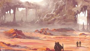 Desert crags (4/26/2012) by wwsketch