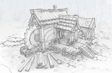 Fantasy Lumbermill by wwsketch