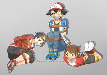 Ash, Gold and Kellyn tied up by Aregian