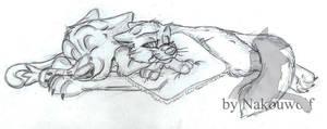 Bolt and Mitten's hug by Nakouwolf