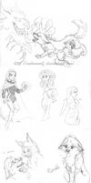 Sketches dump 2015 - 01 by Nakouwolf