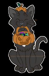 Pumpkin Kitty - Surprised Halloween Gift by Nakouwolf