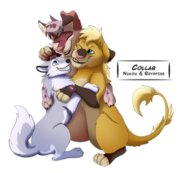 A fluffy grouphug by Nakouwolf