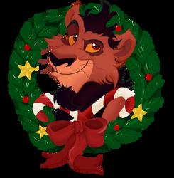 Christmas Badge - Nuka by Nakouwolf