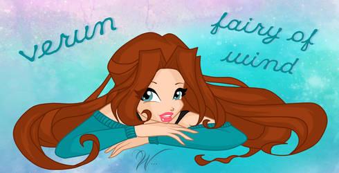 Verun Fearel - Fairy of wind by Weekkaa