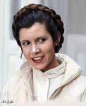 Princess Leia - Carrie Fisher by MaliciaRoseNoire