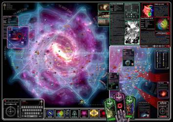 Warhammer 40k star map by AlexMochnacz