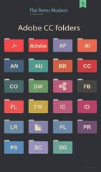 Flat Retro Modern Folders Adobe cc by valvator