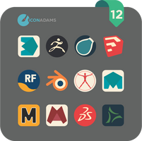Flat iCons 2017 3D app by valvator