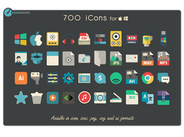 iConadams 700 icons by valvator
