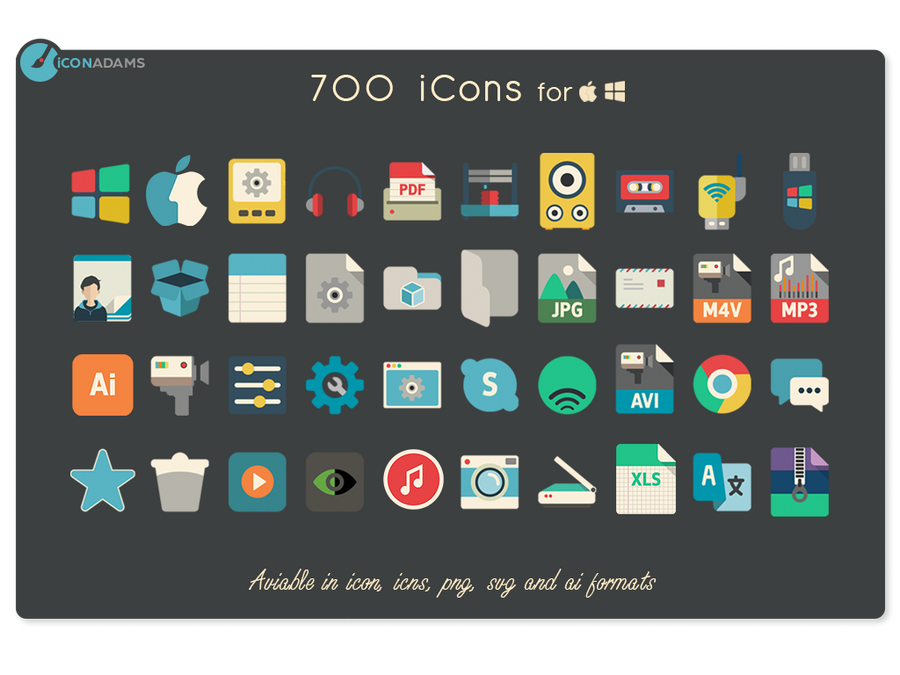 iConadams 700 icons by valvator