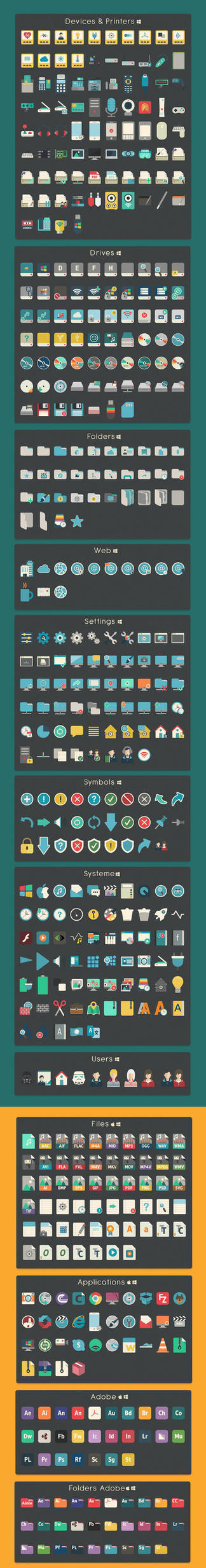 iConadams 700 icons for Windows and Mac by valvator