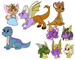 Spyro-type Doodles 2 by Draco-Digi