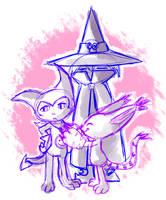 Gatomon Impmon Wizardmon by Draco-Digi