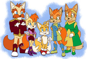 Tails family - Meet the Prowers by Draco-Digi