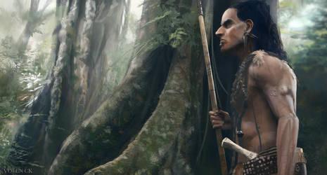 Tribal Warrior by volenck