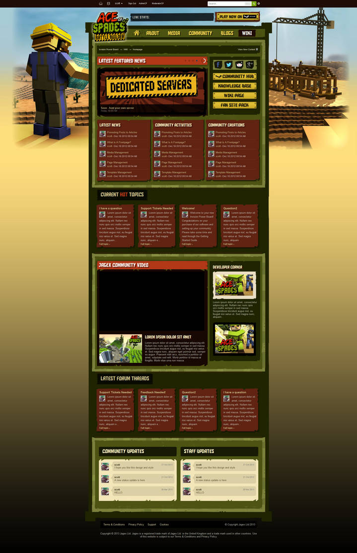 Jagex - IPB Theme Ace Of Spades Official Site. by the-danzor
