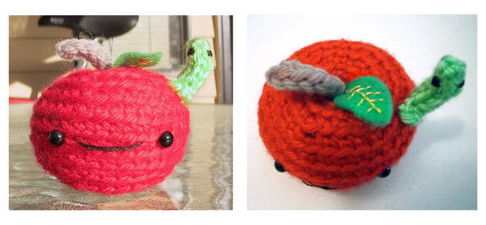 little apple amigurumi by selkie