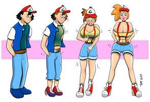 Ash to Bimbo Misty - Pokemon by DarkMoney1
