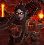 My DarkIron Dwarf Obsydia by NevanGoth