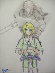 Link and Dark Link II remake by M-Ichihara1594
