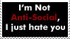 Anti-Social Stamp by RejectAll-American