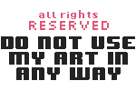 Pixel Copyright Button by Sophibelle