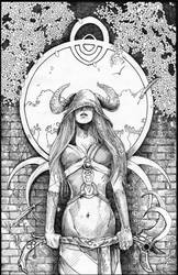 Tarot Series High Priestess by QuestingRaven